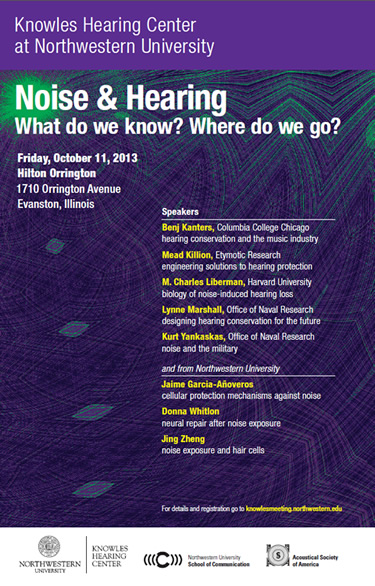 Noise & Hearing What do we know? Where do we go? Friday, October 11, 2013