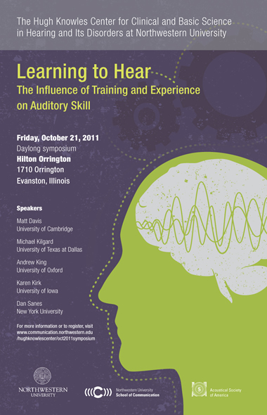 Learning to Hear: The influence of training and experience on auditory skill, October 21, 2011